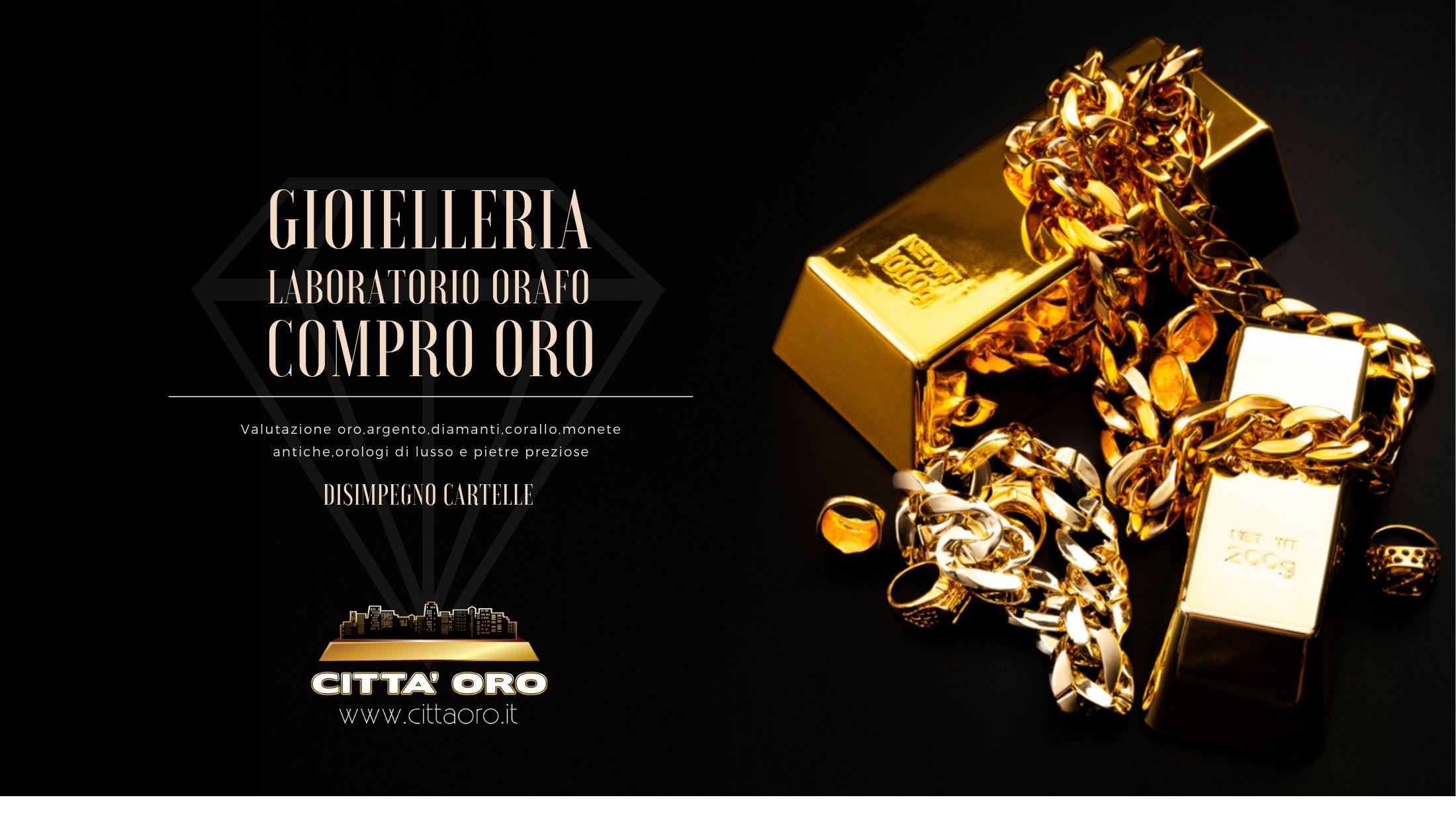 Compro oro,argento,diamanti,corallo,orologi di lusso. Città Oro Gioielleria, Compro Oro a Pompei (Napoli)